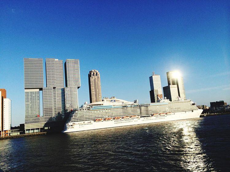 Regall Princess Cruise Ship Maas NLRTM Instawalk010 Igersrotterdam Rotterdam Taking Photos Enjoying Life Holland Nederland Water Relaxing Erasmus Bridge Erasmusbrug Derotterdam Igersholland Princesscruises PrincessCruiseLine