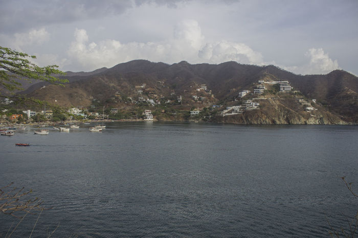 Beauty In Nature Day Landscape Mountain Nature No People Outdoors Scenery Scenics Sea Sky Taganga Taganga Colombia Taganga Colombia. Tranquility Water Waterfront