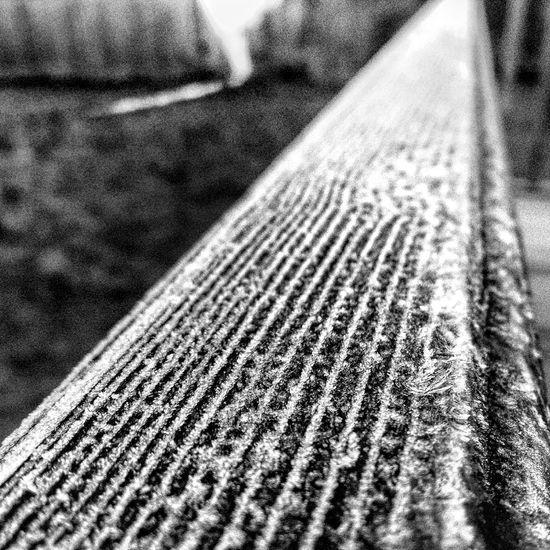 Frozen Banister deck Northamptonshire Northants Northampton Frost Frozen Frosty