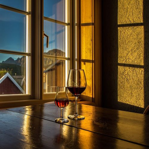 Wineglasses And Window