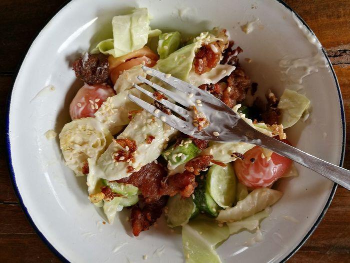 salad Vagatable Food Salad Plate Close-up Food And Drink