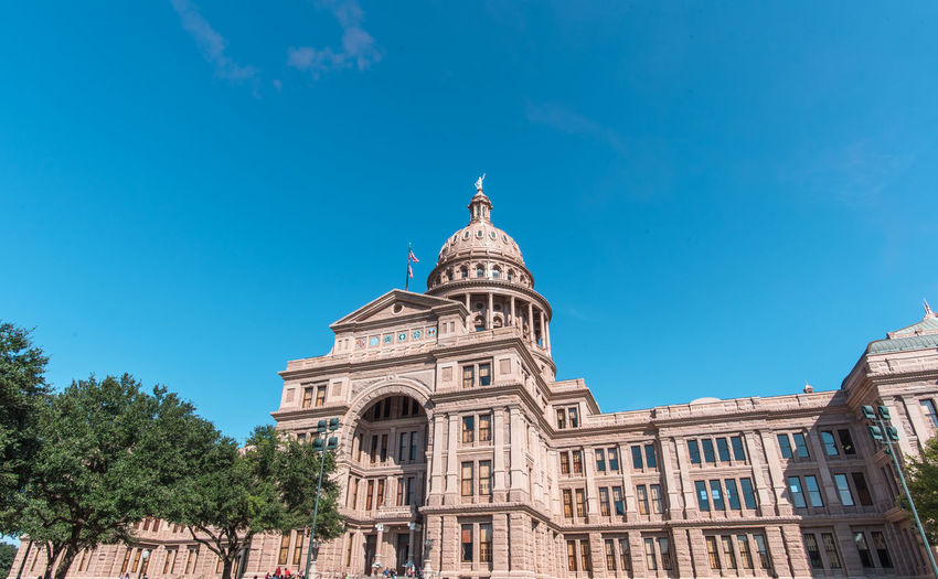 Texas State Capitol, Austin, Texas, United State. Austin Capitol Texas Texas State Capitol Blue Sky Building Destination Historical Old Buildings Tourism