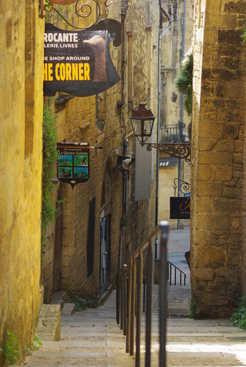 The Streets Of Sarlat In The Dordogne Wandering Around Architecture Building Exterior Built Structure Communication Day No People Outdoors Text