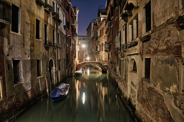 Night bridge Venezia Venice, Italy Architecture Building Exterior Built Structure Canal Day Gondola - Traditional Boat Nautical Vessel Night No People Outdoors Venice Water