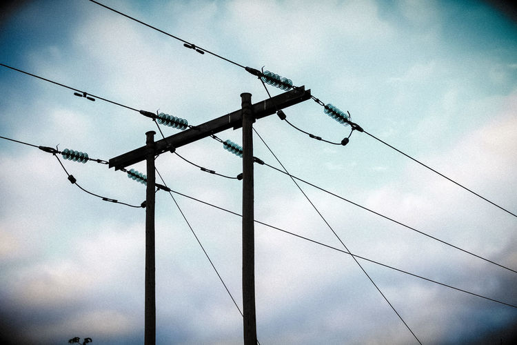 Electric wires above Electric Pole Electric Wires Electricity  Pole Sky Wires In The Sky