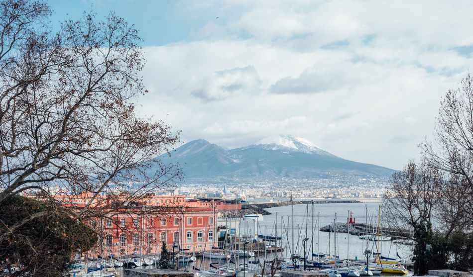 Vesuvio with snow in winter, naples, Italy Architecture Beauty In Nature Building Exterior Built Structure City Cityscape Cloud - Sky Cold Temperature Day Mountain Mountain Range Naples Napoli Nature No People Outdoors Residential Building Scenics Sky Snow Tree Vesuvio Village Water Winter