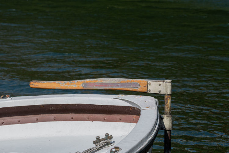 Detail from mooring equipment of boat