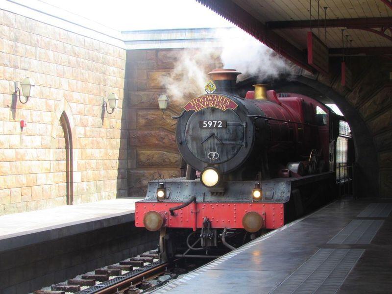 Rail Transportation No People Steam Train Locomotive Outdoors Built Structure Hogwarts Express