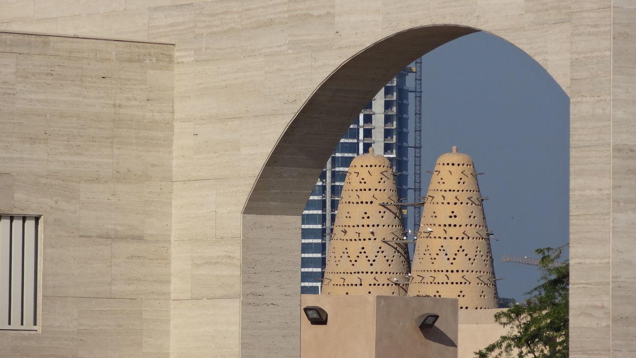Katara Village #amphitheater #Katara Village #the Pearl #West Bay #the Pearl Beach Photography Beachlife Blue Sky And Clouds In Doha Qatar Katara Beach Katara Village Pearl Harbor