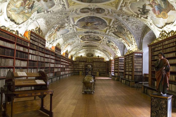 Prague Republique Tchèque Arch Architecture Bibliothek Bibliotheque Book History Library