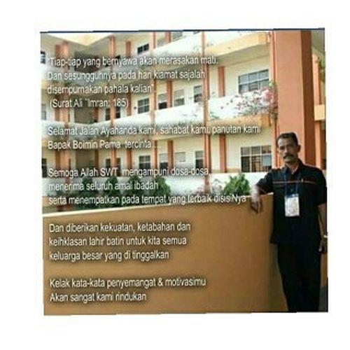 Selamat jalan pak😭😭 Semoga ditempatkan ditempat peristirahatan yg paling indah... Turutberduka Rip Boiminpama Headmaster SMKSIM Alumni Ypsim