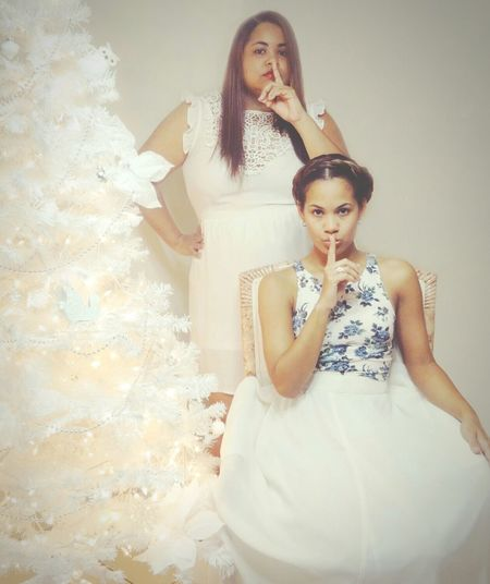 Merry Christmas! Silent Night Merry Christmas Sisters Silent Night, Holy Night Song Holidays Big Sister Lil Sister Love Self-portait