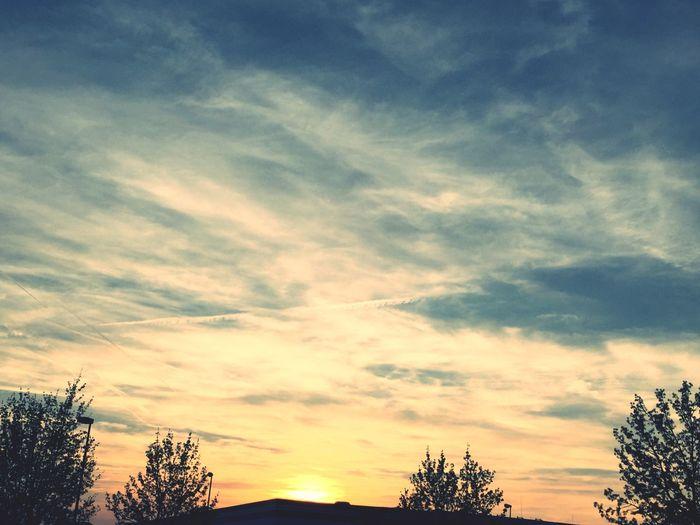 Natur Märkische Kreis Himmel Hellweg Lüdenscheid  Cloud - Sky Sky Tree Plant Beauty In Nature Sunset Tranquility Nature Silhouette No People Outdoors Orange Color
