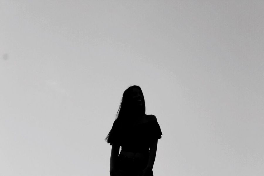 SKYDARK One Person Copy Space Leisure Activity Real People Lifestyles Rear View Standing Studio Shot Silhouette Women White Background Hooded Shirt Clear Sky Day Outdoors Winter Sky España Bestoftheday Thanks  Picoftheday Españoles Y Sus Fotos Young Adult People The Great Outdoors - 2017 EyeEm Awards