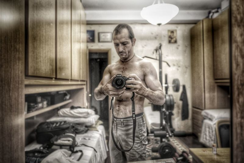 Shirtless One Man Only Only Men Muscular Build Indoors  Adult Men One Person Males  Adults Only Beauty People Human Body Part Real People City Athlete Young Adult Day The Week On EyeEm Sal24f20z Sony A7RII Lombardia, Italy This Is Masculinity