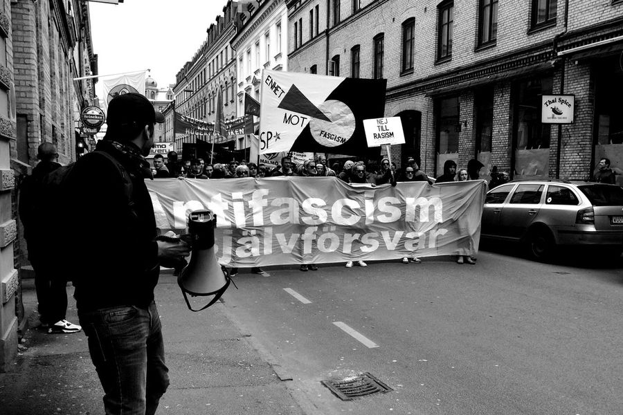 .::AntiFascism is Self-defense::. Pt II One Photo A Day 2014 Streetphotography Streetphoto_bw MADE IN SWEDEN Day 71.