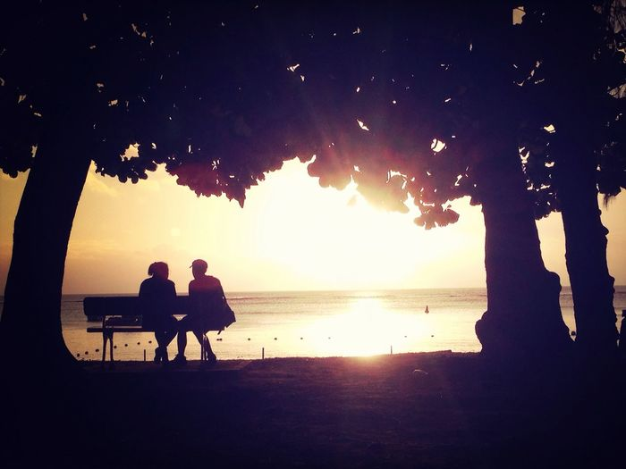 Lovers Sunset Sea Beach
