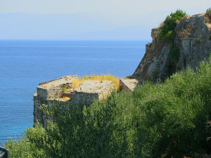 Castle Fortress Tower Medieval Medieval Architecture Sea Koroni Peloponesse Architecture Castles Fortification Shades Of Blue Blue Horizons Castle And Sea Fortress And Sea Viewpoint Landscapes Seascape Nature Monuments Viewpoints Fine Art View