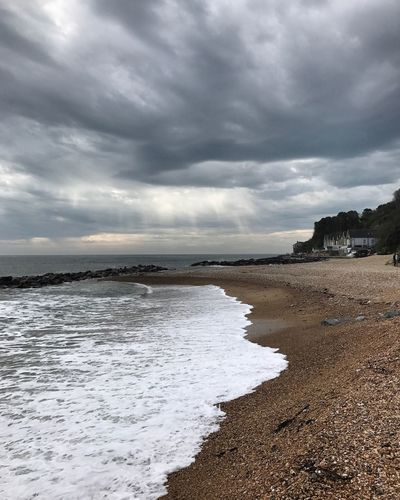 Sunbeams over the Isle of Wight. Sea Sky Nature Beach Cloud - Sky Water Scenics Beauty In Nature Outdoors No People Horizon Over Water Storm Cloud Sand Wave Day Storm Seashore England Hampshire  Isle Of Wight  Ventnor Isle Of Wight Ventnor Sunbeams Sunbeam Uk