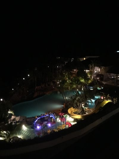 Balcony view Malaysia Lights In The Dark Hotel View Poolarea Night Built Structure No People Glowing Water Light