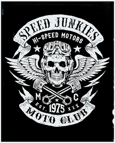Poster Art Poster Speed Junkies Black & White Signporn Black / White Posterporn Postercollection Posters Posterart Poster Collection 1975 High Speed Posterwall Poster Wall Skulls Blackandwhite Black&white Motorcycle Club Motorcycle Racing Motorbikes Motorbike Motorcycle Motorcycles Wall Poster