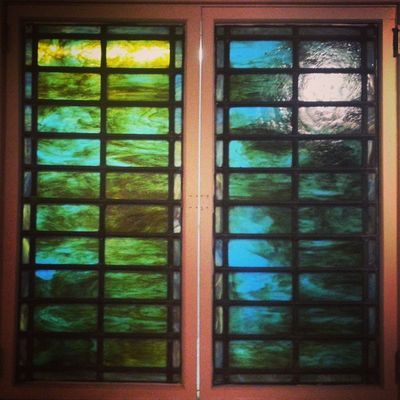 Stained glass shutters Glass Stainedglass Mauchchunk Operahouse kitchen home trb_members1 decorative art abstract pennsylvania