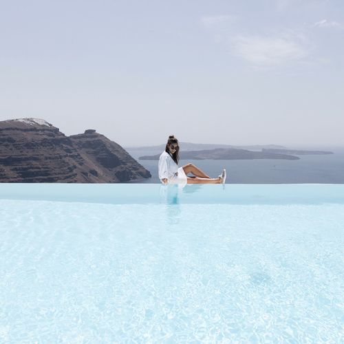 EyeEm Selects Swimming Pool Water One Person Relaxation People Young Adult Outdoors One Woman Only Vacations Carefree Day Lifestyles Luxury Summer Women Be. Ready. EyeEmNewHere