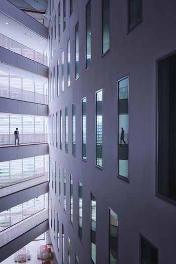 Minimal Photography Minimal People Minimalism No People Architecture Indoors  In A Row Window Building Illuminated Built Structure Reflection Wall - Building Feature