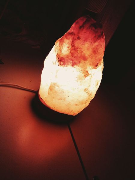 Saltlamp Salt Lamp Taking Pictures Lights Fire Colours Beautiful Home Chill Mood