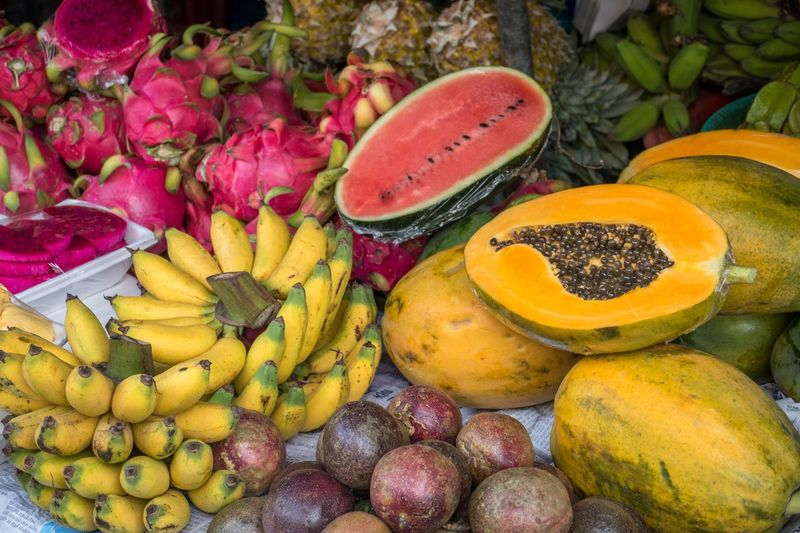 Local food markets of Vietnam EyeEmNewHere Street Food Huế Vietnam Dragon Fruit Papaya Water Melon Passion Fruit Banana Healthy Food Local Food Fruit Market Healthy Eating Food Freshness