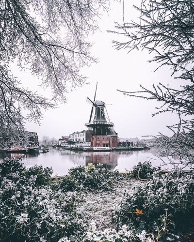 Dutch winter Windmill Winter Wintertime Winter Wonderland Frost Netherlands Holland Haarlem Water Tree No People Travel Destinations Travel Waterfront EyeEm Traveling Travel Photography EyeEm Gallery Cityscape City EyeEm Best Shots Photooftheday Eyeemphotography AMPt_community Architecture Rethink Things