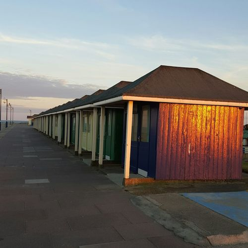Mablethorpe Beach Chalet Chalets Reflection Sunreflection Evening Sky Walking