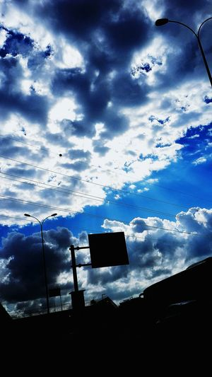 Silhouette Sky Cloud Outline Blue Cloud - Sky Cloudy Day Outdoors Tranquil Scene Nature Scenics Tranquility Dark Beauty In Nature No People Remote