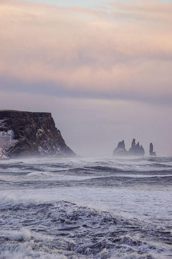 Stormy waves at