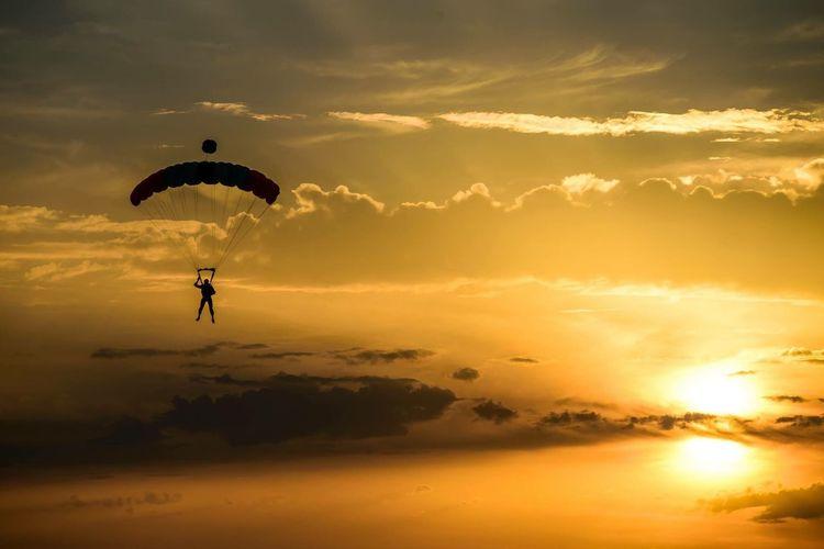 Sport Salto Tramonto Lancio, Paracadute Paracadutismo