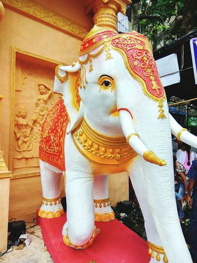 Elephant Art And Craft Statue Art And Craft Sculpture Art Statue Religion Spirituality Creativity Day Culture Temple - Building Place Of Worship Outdoors Stone Culture Mythology Memories First Eyeem Photo