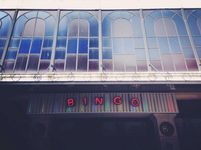Bingo Neon Lights Building Exterior Colorful Portugal New Talents