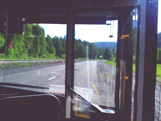 Road Glass Window