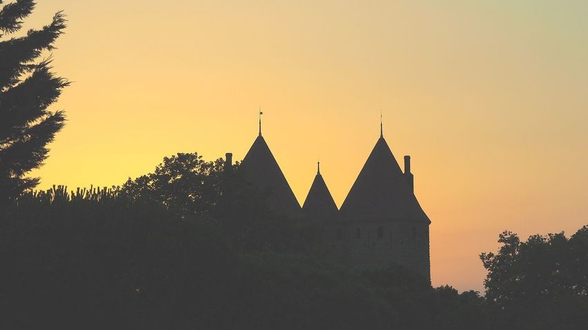 Carcassonne Silhouette Sunset Architecture No People Outdoors Sky Cityscape Tree Day Night The Street Photographer - 2017 EyeEm Awards City Monument EyeEm Selects Eyem Gallery Eyeem Photography Eyeem Market The Week Of Eyeem LaCite Art Is Everywhere Building Exterior France🇫🇷