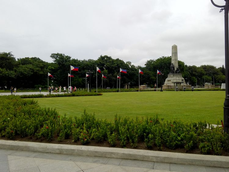 Rizal RizalPark Tree Sky Outdoors Cloud - Sky Flower Grass No People Nature Lush - Description Track And Field Stadium Day