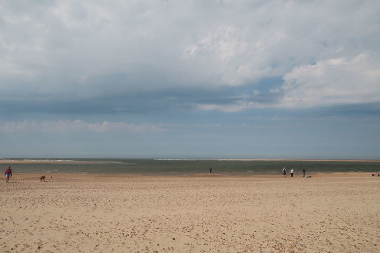 Norfolk Wells-next-the-Sea Moody Sky Dramatic Sky Flamingo Water Sea Wave Low Tide Beach Sand Dune Sand Summer Sun Seascape Coastal Feature Coast Coastline Tide Ocean Horizon Over Water Calm