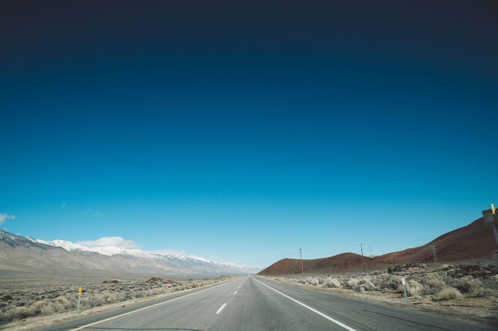 Arid Climate Blue Sky CA-190 Coso Death Valley Desert Landscape Mountains Nature Olancha Road Roadtrip California Dreamin