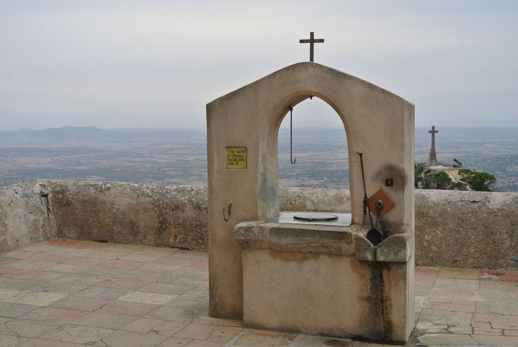 Connected By Travel Well  Draw-well Cross Two Crosses View View From The Top SPAIN Mallorca Monastery Old Culture Architecture Nofilter