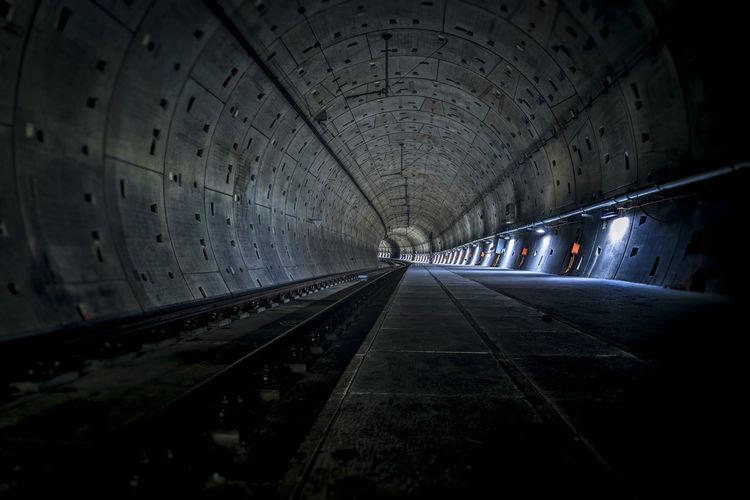 Architecture Civilengineering Engeneering Illuminated Indoors  Subway Transportation Tunnel