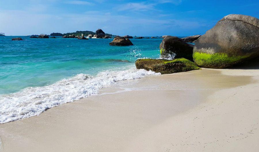 Belitung Island Landscape_Collection SandyBeach Beach Beautyfulbeach Bluesky♡ Relaxing Time Stones Vacation Destination Whitesandybeach
