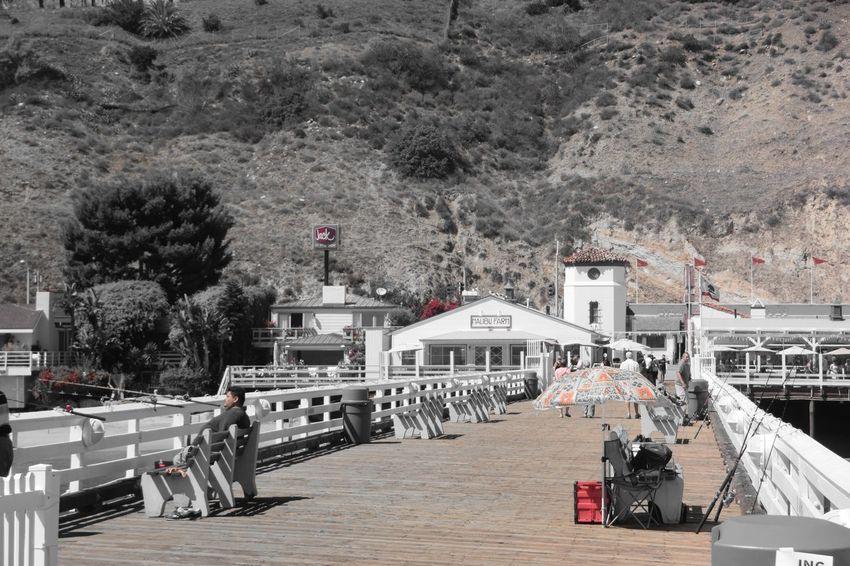 Day Malibu Pier Malibu, Califronia Outdoors Red Stylized The Way Forward Waterfront