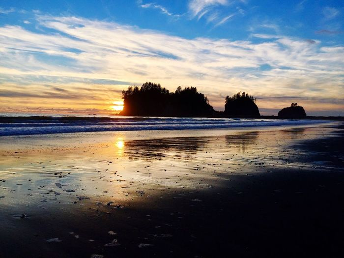 La Push, WA Quileute EyeEmNewHere Pacific Northwest  Tribal Land Solitude Sunset The Great Outdoors - 2017 EyeEm Awards Coastline Sunset Silhouettes Reflection