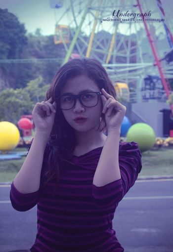 Young Adult Portrait Young Women Women Beauty Human Body Part People One Person City Outdoors Eyeglasses  Adult One Young Woman Only Adults Only Day Photography Nikon Photographer EyeEmNewHere WeekOnEyeEm Only Women Looking At Camera Close-up INDONESIA Undergraph