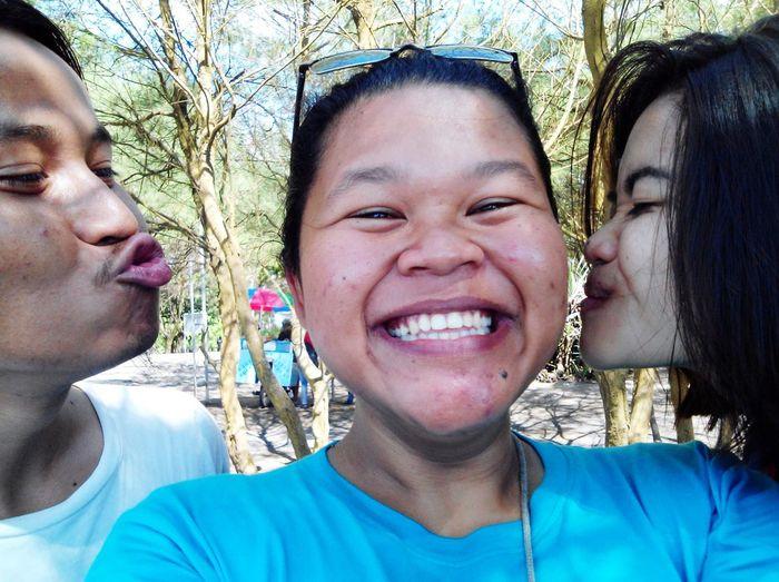 Beach Day Togetherness Jogjakarta Memories ❤ Laugh Campus Trip Friends Kiss :* LoveThem
