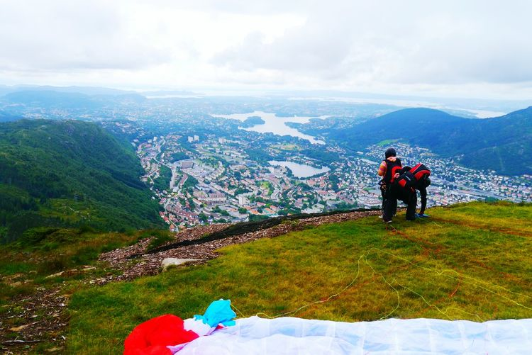 Learntofly at Bergen Norway Chriscookphotographyuk Lumixg3 Paragliding Enjoying The View Viewpoint Nature